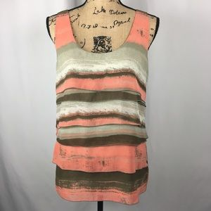Kenneth Cole Layered Sleeveless Top Sz 12